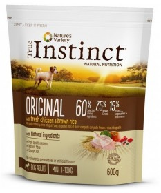 True Instinct Original per Cane Adult Mini con Pollo e Riso integrale da 600g