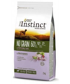 True Instinct No Grain per Cane Medium/Maxi con Tacchino e Piselli da 2 Kg