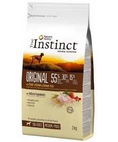 True Instinct Original per Cane Adult Medium/Maxi con Pollo e Riso integrale da 2 Kg