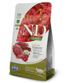 Farmina N&D Urinary Grain Free Gatto Quinoa Anatra 300 Gr