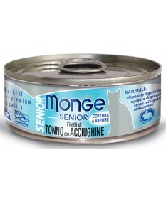 Monge Natural Superpremium Jelly Senior Gatto Umido Filetti di Tonno con Acciughine da 80 gr