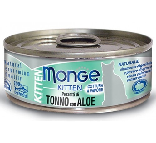 Monge Natural Superpremium Jelly KittenGatto Umido Tonno Bonito con Aloeda 80 gr