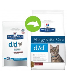Hill's Prescription Diet Gatto secco d/d Allergy Prescription da 1,5 Kg