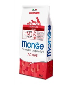 Monge Superpremium per Cane All Breeds Adult Active con Pollo 12kg