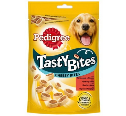 Pedigree Tasty Bites Cheesy BitesCane Snack Manzo e Formaggio da 140 gr