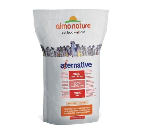Almo Nature Alternative per Cane Adult M-L con Pollo Fresco e Riso