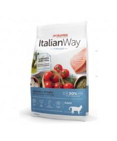 Italian Way per Gatto Adult Sterilized con Salmone e Aringhe da 1,5 kg