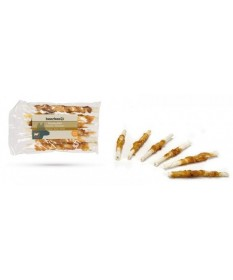 BeezTees Chewing Sticks con Pelle Bovino e Pollo 6 pz per Cani