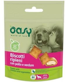 Oasy Biscotti Ripieni con Pollo e Verdure per Cani da 80 gr