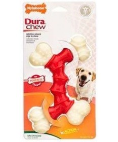 Nylabone Dura Chew Double Wolf per Cani Medium