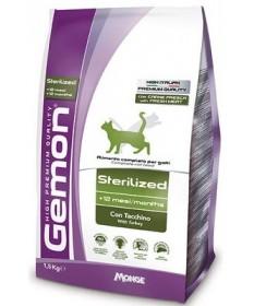 Gemon Cat Sterilised con Tacchino per Gatti da 1,5 kg