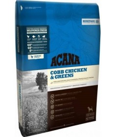 Acana Heritage Cobb Chicken & Greens per Cani