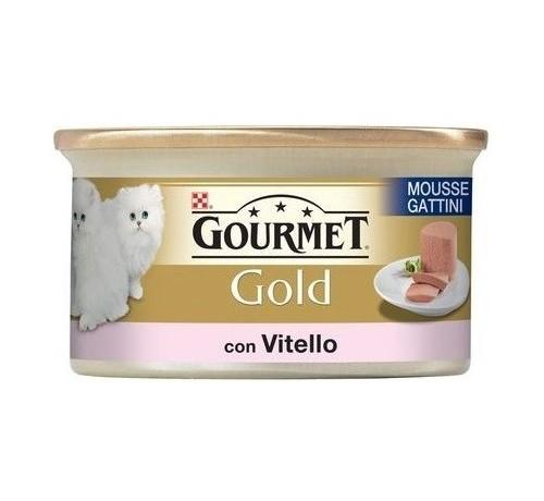Gourmet Gold Mousse Kitten con Vitello per Gattini da 85 gr