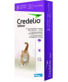 Credelio Viola 12 mg 0,5-2 kg 3 cpr masticabili per Gatti