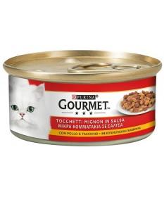 Gourmet Red Tocchetti e Trancetti per Gatto da 195 gr