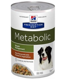Hill's Prescription Diet Canine Metabolic Weight Manegement Spezzatino con Pollo e Verdure per Cani da 354 gr