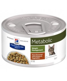 Hill's Pescription Diet Feline Metabolic Weigh Management Spezzatino con Pollo e Verdure per Gatti da 82 gr