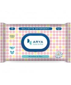Arya Salviette Detergenti da 40 pz per Cani e Gatti