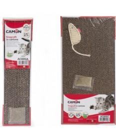 Camon Tiragraffi Catnip in Cartone Maxi con Topo per Gatti da 47x24 cm