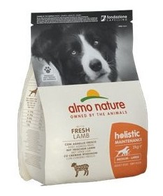 Almo Nature Holistic per Cane Adult Medium Large con Agnello e Riso da 2 Kg