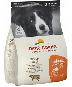 Almo Nature Holistic per Cane Adult Medium con Manzo e Riso da 2 Kg