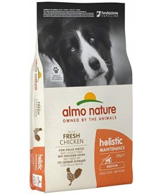 Almo Nature Holistic per Cane Adult Medium con Pollo e Riso 12 Kg