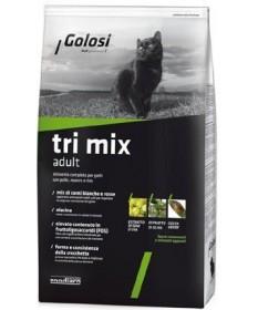 Golosi Cat Tri Mix con Pollo, Manzo e Riso per Gatti da 7,5 kg