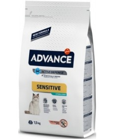 Advance Affinity Active Defense Sensitive Sterilized con Salmone e Orzo per Gatti da 1,5 kg
