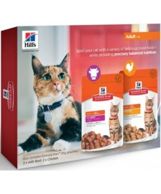 Hill's Science Plan Adult 4 bustine da 85 gr con Manzo e Pollo per Gatti