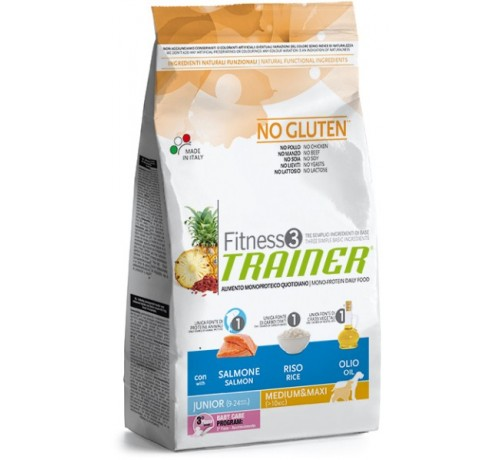 Trainer Fitness 3 Cane Secco Junior Medium e Maxi con Salmone e Riso