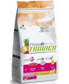 Trainer Fitness 3 Cane Secco Junior Medium e Maxi con Anatra e Riso