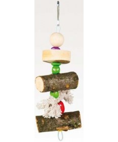 Fop Pet Products Gioco in Legno/Pelle per Uccellini da 20 cm