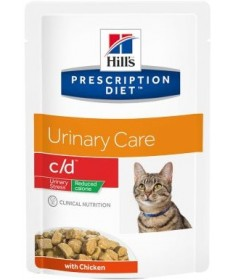 Hill's C/D Feline Urinary Stress Reduced Calorie per Gatto con Pollo da 85g