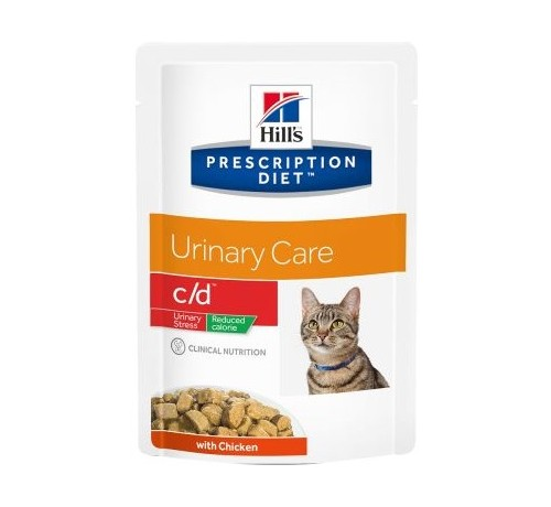 Hill's C/D Feline Urinary Stress Reduced Calorie con Pollo da 85g