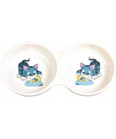 Trixie Kitten Doppia Ciotola in Ceramica diam. 11 cm per Gattini