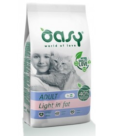 Oasy Gatto Secco Adult Light in Fat