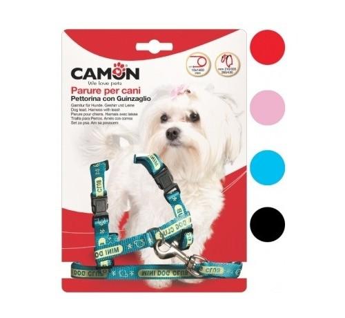 Camon Parure Cagnolini Pettorina + Guinzaglio 10x1400 mm per Cani
