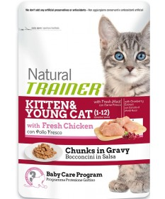 Trainer Natural per Gatto Kitten & Young con Pollo Fresco da 85 gr
