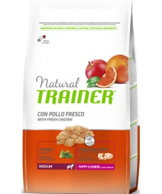 Trainer Natural per Cane Puppy & Junior Medium con Pollo da 3 Kg