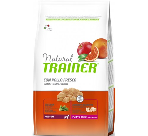 Trainer Natural Cane Secco Puppy & Junior Medium Pollo da 3 Kg