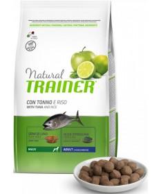 Trainer Natural per Cane Adult Maxi con Tonno, Riso, Semi di Lino e Alga Spirulina da 12 Kg
