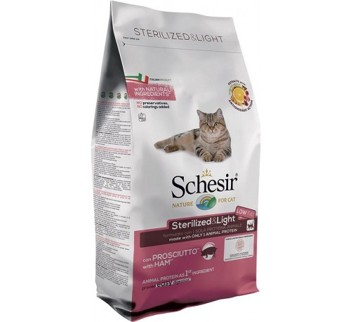 Schesir gatto Monoprotein Sterilized & Light con Prosciutto