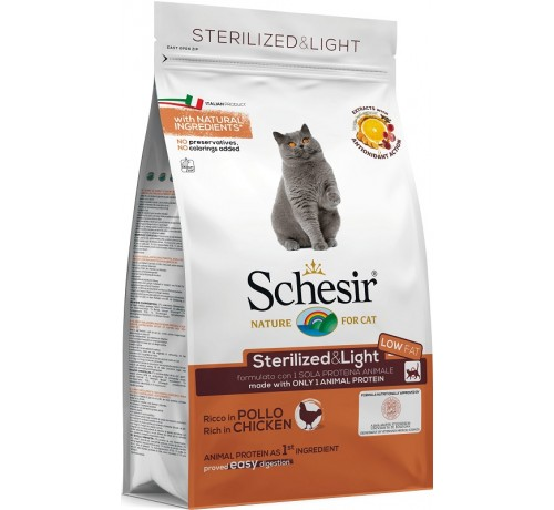 Schesir gatto Monoprotein Sterilized & Light con Pollo