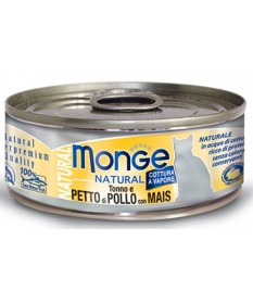 Monge Natural Superpremium Cotti a Vapore Gatto Umido da 80 gr