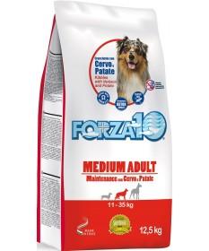 Forza 10 Maintenance per Cane Adult Medium con Cervo e Patate da 12,5 kg