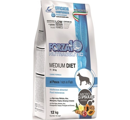 Forza10 Medium Diet Cane Secco Pesce