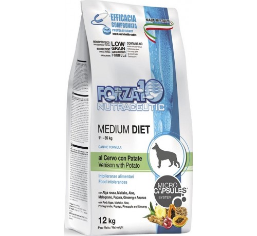 Forza10 Medium Diet Cane Secco Cervo e Patate
