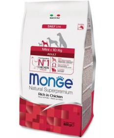 Monge Natural Superpremium per Cane Adult Mini Ricco di Pollo
