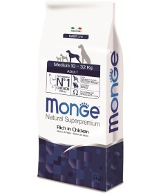 Monge Natural Superpremium per Cane Adult Medium Ricco di Pollo