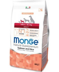 Monge Natural Superpremium Adult Mini Cane Secco Salmone e Riso
